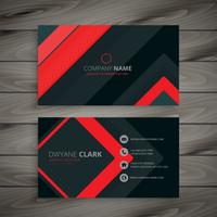 minimal dark business card design vector design illustration