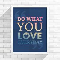 citation d'inspiration sur une place de cadre blanc sur un mur blanc