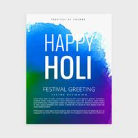 indian holi festival poster