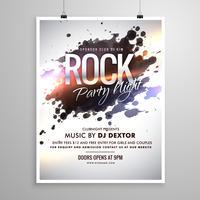 Rockmusik Flyer Plakat Vorlage mit Tinte spritzen