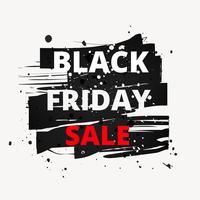 venda de sexta-feira negra de tinta grunge