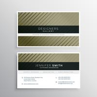 business card design with diagonal straight lines