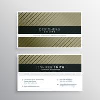 Diseño de tarjetas de visita con líneas rectas diagonales.