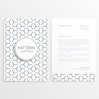 letterhead template design with pattern shape
