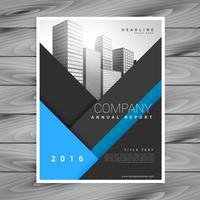 vecteur de conception brochure entreprise rapport annuel