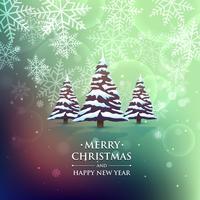 Weihnachtsbaum auf buntem Hintergrund