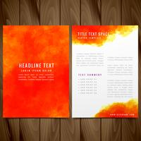 watercolor brochure flyer vector design illustration