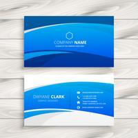 blue wave business card vector design illustration