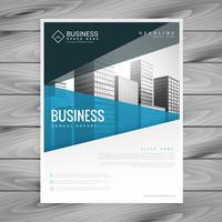 design de modelo de folheto para apresentação de negócios