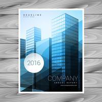 moderner blauer abstrakter Firmenbroschürenschablonen-Designvektor