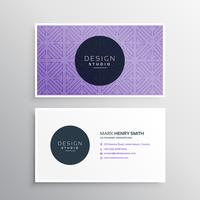 clean purple business card template
