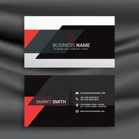fantastic red and black business card vector design