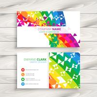 abstract colorful business card. Business vector design illustra