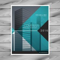 modelo de design de folheto moderno azul profissional brochura