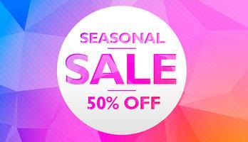 offre de vente saisonnière et conception de modèle d'affiche bannière discount