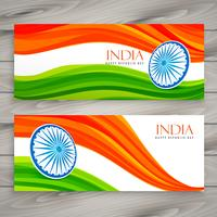 indian flag banners background vector design illustration