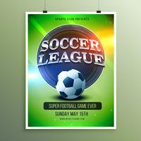 Flyer zur Präsentation der Fußball-Liga