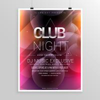 modelo de panfleto de festa de noite de clube com detalhes de data e hora