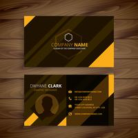 creative yellow stripes business card template vector design ill
