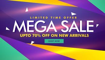 Mega Sale Banner Design für Ihre Markenwerbung