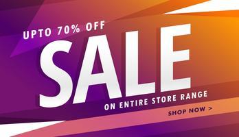 purple sale banner design for marketing