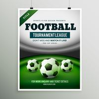 conception de flyer jeu ligue tournoi de football