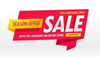 amazing sale banner promotional template for brand advertisement