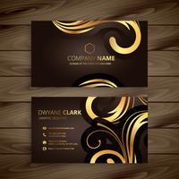 luxury floral business card template vector design illustration