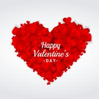 valentines day greeting heart vector design illustration