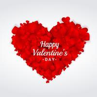 Saint Valentin voeux coeur design illustration vectorielle