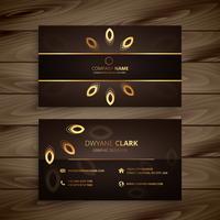 goldene Visitenkarteschablonenvektor-Designillustration