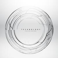 líneas esfera tchnology fondo vector diseño ilustración