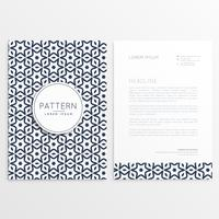 abstract business leaflet template