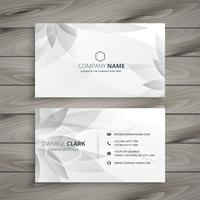 beautiful gray white flower business card template vector design