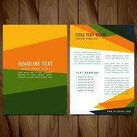 creative colorful brochure flyer design illustration