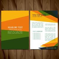 creative colorful brochure flyer design illustration