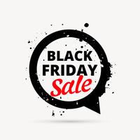 black friday sale design in chat bubble