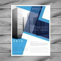 moderne blaue Broschüre Flyer Designvorlage für Ihr Unternehmen