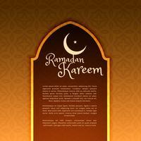 Saludo festivo de ramadan con puerta