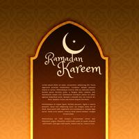 ramadan festival greeting with door