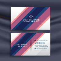 business card vector design with diagonal stripes