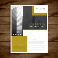 Plantilla de folleto de informe anual para su empresa.