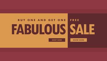 fantastische verkoop banner poster sjabloon voor promotie