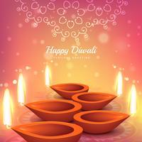 Fondo de vector de diseño de saludo del festival indio diwali
