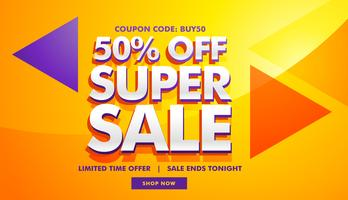 super sale advertising banner template for marketing