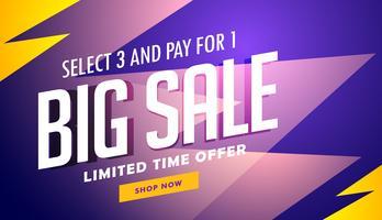 grote verkoop banner ontwerpsjabloon in vector