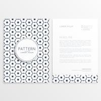 zakelijke briefpapier briefpapier sjabloon met patroon ontwerp