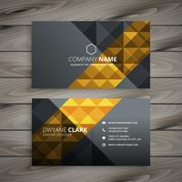 black golden business card design template vector design illustr