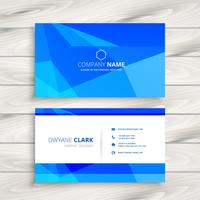 blue triangular shape business card template vector design illus