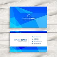 blue triangular shape business card template vector design illus